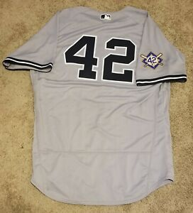 best service 290c1 6c878 Details about Greg Bird Game Used New York Yankees 2018 Jackie Robinson Day  Jersey MLB &...