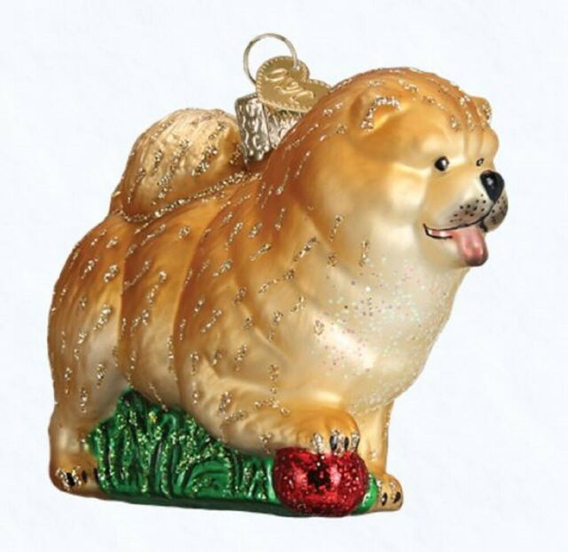 Old World Christmas Chow Chow Dog Pet Glass Ornament 12497 Decoration FREE BOX