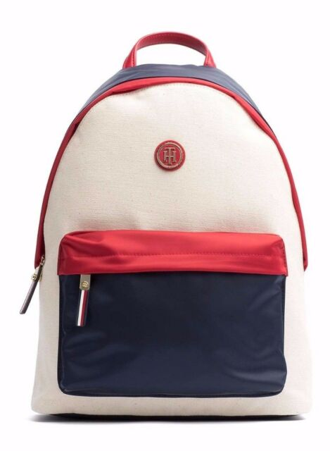 TOMMY HILFIGER AW0AW04037 POPPY BACKPACK CORPORATE COLOURBLOCK ZAINO NYLON BLU