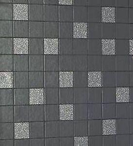 holden fliesen auf einer rolle granit schwarz tapete 89130 ebay
