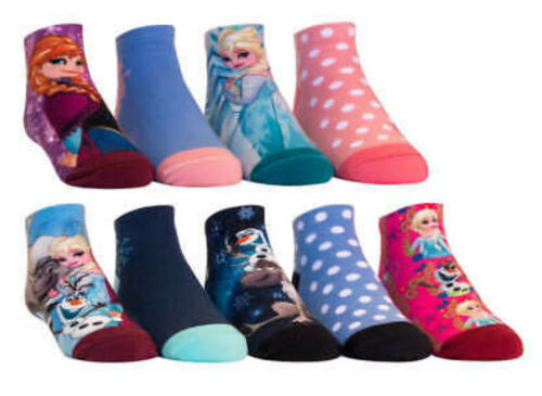 shoe size 13-4 So Cute 9 pk of Disney Princess or Frozen Girl Character Socks