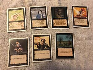 Magic The Gathering Black Deck White Enchantment cards Border single 1990 used