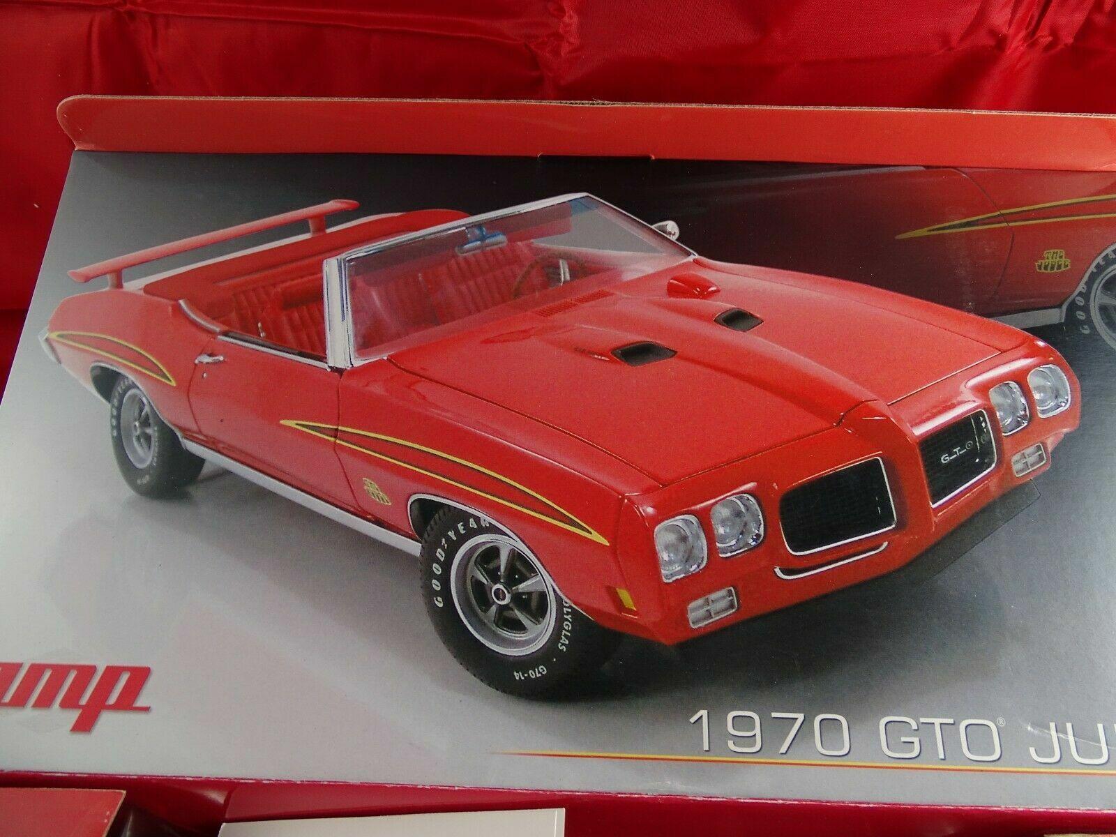 1 18 Gmp 1970 Pontiac Gto Judge Converdeible Rojo Lmtd.ed.1von1000   Nuevo Ovp