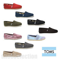 Toms Women's Classic All Colors Canvas Slip On Shoes 100% Authentic In Box