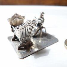 Sculpture Miniature En Argent Massif, Enfant, Berceau, Nourrice, Cadeau Naissanc