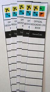 5 Official Geocaching Log books size 1.5 inches Free Shipping