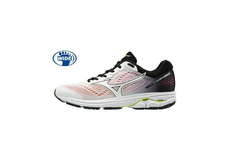 Mizuno Wave Rider 22 D Wide Women's Running shoes White Black J1GD189801 19J