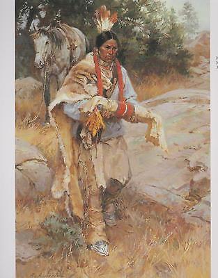 "Roy Andersen,  ""the Medicine Bundle"",  Native American,  Western,  Art Print--"