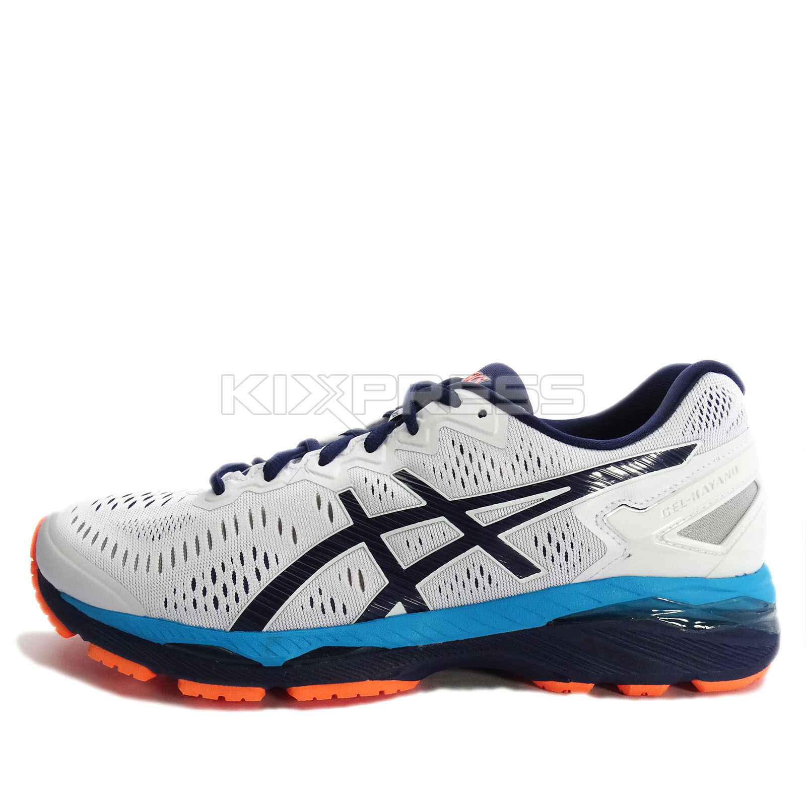 Asics GEL-Kayano 23 [T646N-0149] Running White Indigo blueeo-Hot orange