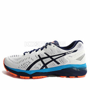check out e2a2e b4623 Details about Asics GEL-Kayano 23 [T646N-0149] Running White/Indigo  Bluo-Hot Orange