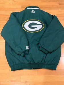 Green-Bay-Packers-Vintage-90-s-Starter-Puffer-Full-Zip-EUC-Rare-Size-L-NFL