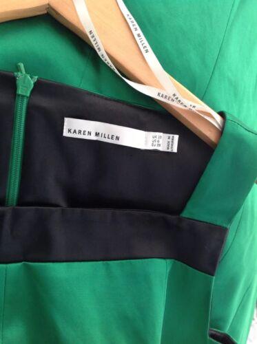 partito senza nero e smeraldo colore abito maniche Millen Karen taglia blocco 10 verde nUqZ7axf1