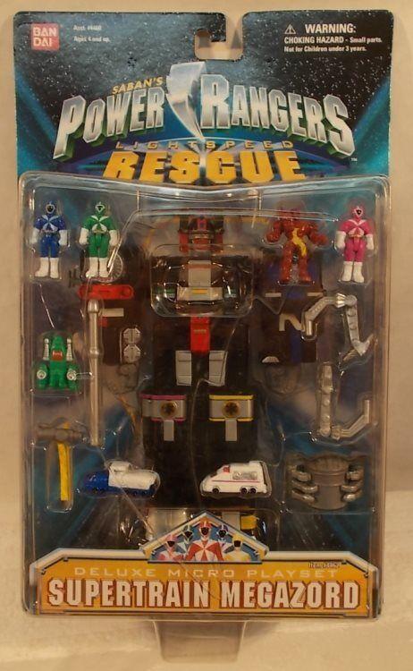 Power Rangers Lightspeed Rescue - Deluxe Supertrain Megazord Micro Playset (MOC)