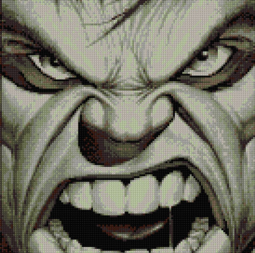 Hulk puntada cruzada contada Kit de TV//cine caracteres Superhéroe
