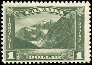 Mint-H-Canada-1930-F-Scott-177-1-00-King-George-V-Arch-Leaf-Stamp