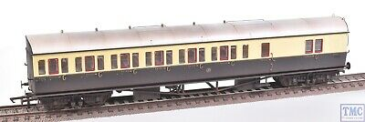 R4877a Hornby Oo Gwr Collett 57ft Bow Ended D98 Six Compt Brake Third Weathered