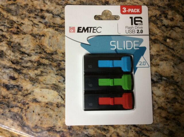 EMTEC ECMMD16GC452P3 Flash Drive - 16GB C452 Slide44; Pack of 3