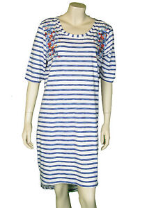 Ex M S Ladies Nightdress Sleep Shirt blue striped 8 10 16 22 Style ... 71f44189b