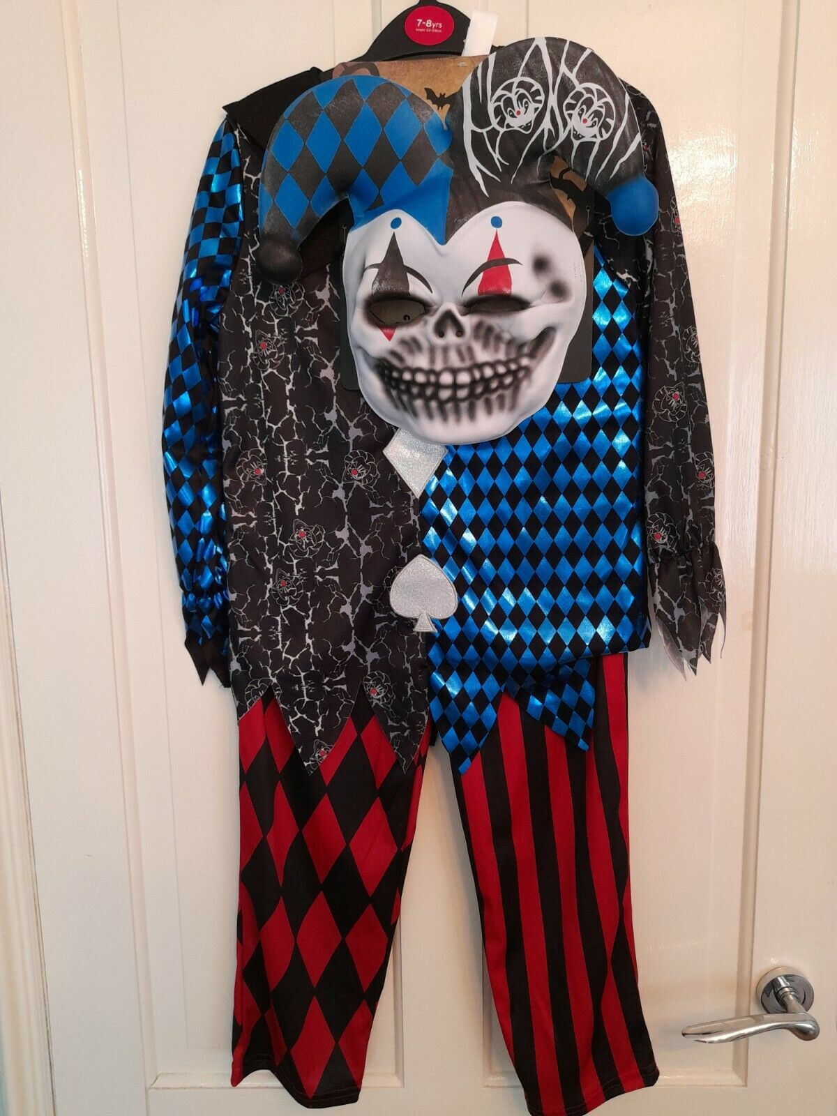 New TU Halloween Jester Costume - Top/Trousers And Mask Age 7-8 Years