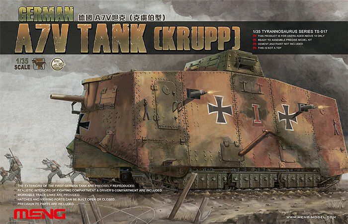 Meng Models 1 35 WWI German A7V Tank Krupp