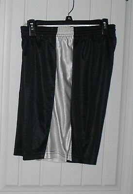 """A4 Woman's BLACK WITH WHITE TRIM Shorts  Size LARGE 5/"""" INSEAM"""