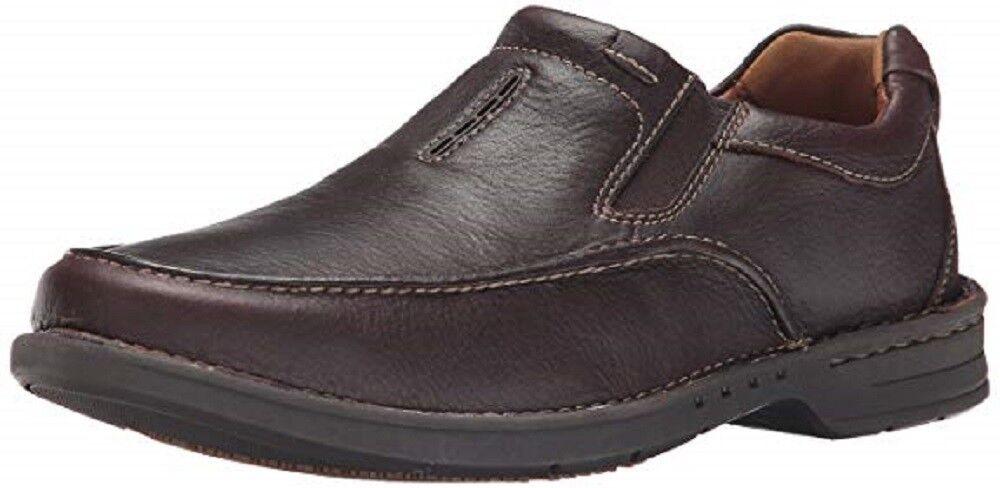 Clarks UNSTRUCTUrouge Untilary Easy Slip-on en cuir marron chaussures hommes UK-10.5 G 45 m
