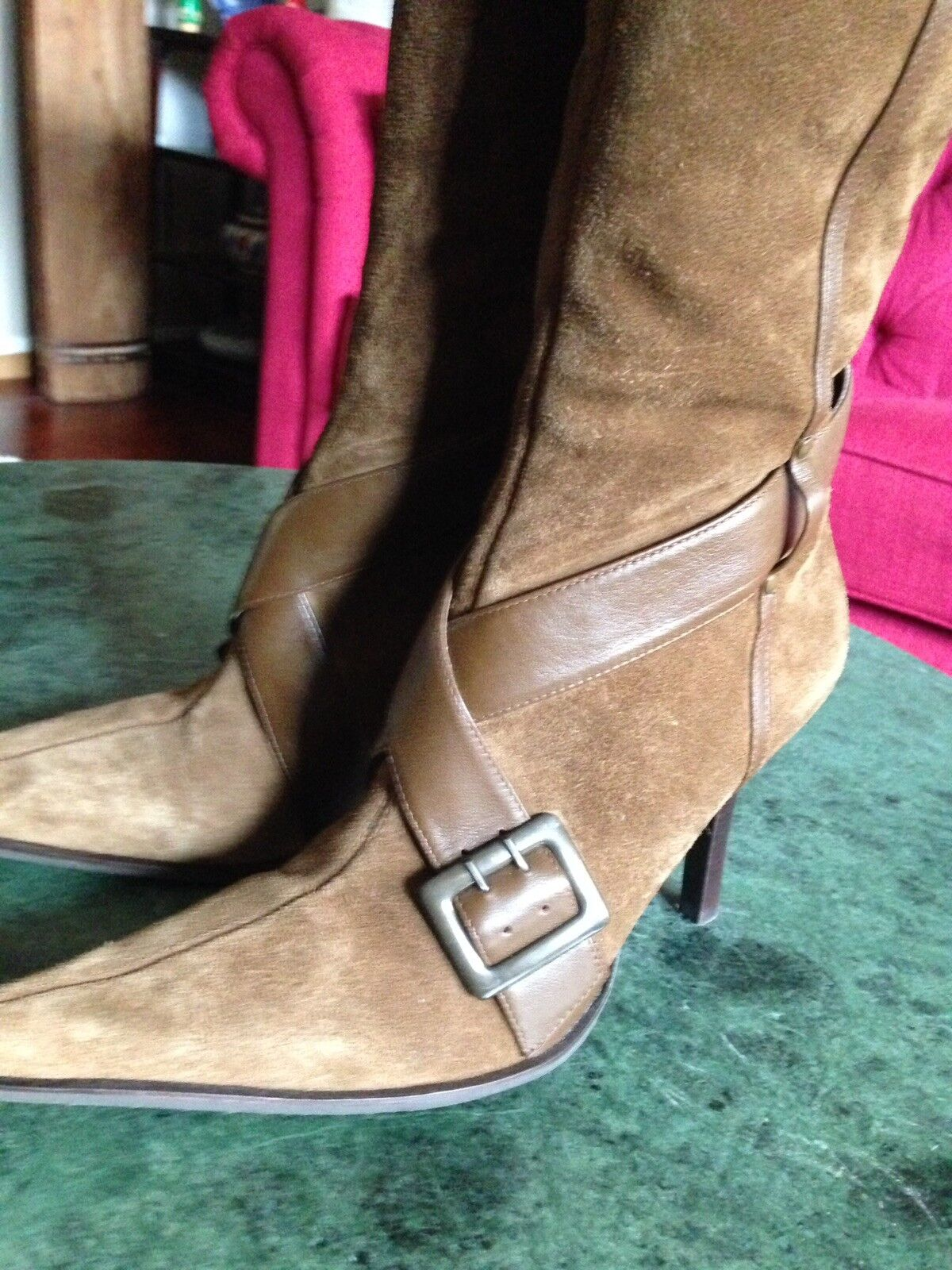 Gorgeous Brown/ Olive Leather DIBA Boots 8 1/2M