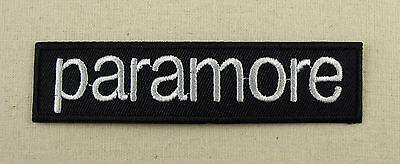 PARAMORE   Iron On Sew On Embroidered Patch Rock heavy metal Hardcore