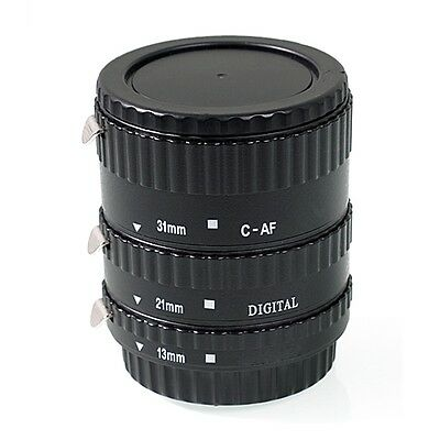 AF Macro Extension Tube Set W/ Caps  (13mm+21mm+31mm) for Canon DSLR US SHIP
