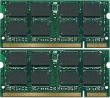 NEW 2GB (2x1GB ) DDR2 PC2-4200 PC4200 533MHz SODIMM LAPTOP MEMORY RAM 2X 1GB Kit