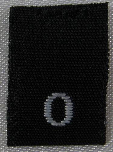SIZE TAGS ZERO SIZE 0 50 PCS BLACK WOVEN SEWING CLOTHING LABELS