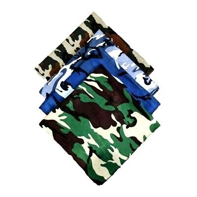 100/% Cotton Plain Bandana Headband Head Wear Tie Neck Scarf Wrist Wrap Band