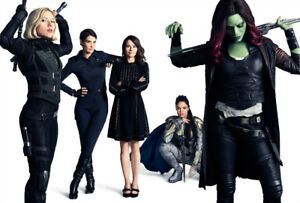 Details about Avengers Infinity War Black Widow Gamora Silk  Poster/Wallpaper 20 X 14 inches