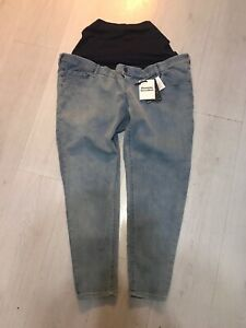 New-Blooming-Marvellous-Maternity-Pregnant-Light-Blue-Under-Bump-Jeans-Size-20