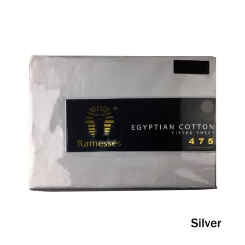 475TC Egyptian Cotton Fitted Sheet 40cm Wall by Ramesses QUEEN KING