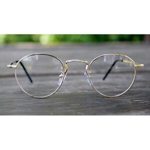 7cedf37f4d 1920s Vintage oliver rétro lunettes rondes 61R10 Gold cadres classic ...