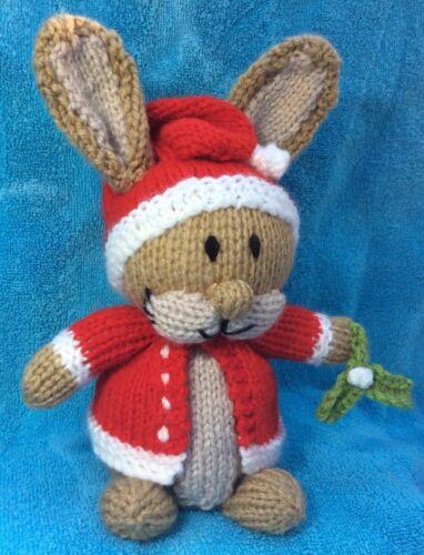 18cms toy Christmas Peter Rabbit inspired choc orange cover KNITTING PATTERN