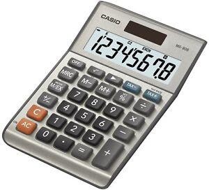 Casio Taschenrechner MS-80B MS80B 8stellig silber NEU!