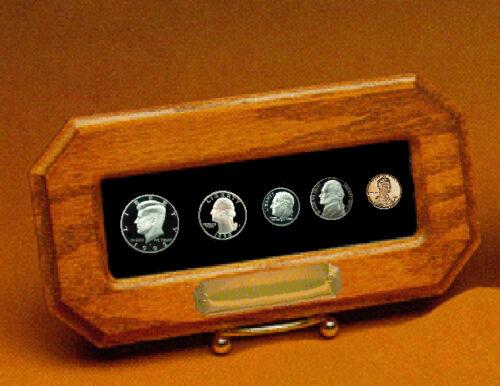 Year Set Coin Holder Champion Custom Oak C-135