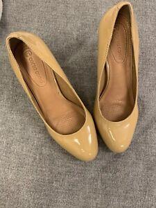 Corso-Como-Womens-Classic-Stiletto-Pumps-Beige-Leather-Size-7