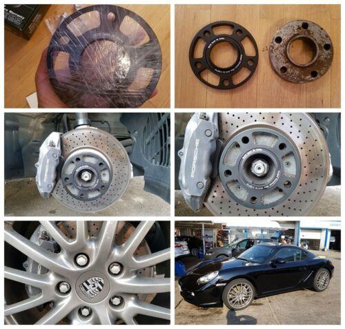 2 15mm Aluminum 7075T6 5x130 Wheel Spacers for Porsche Cayenne 911 996 997 991