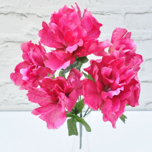 ARTIFICIAL SILK FLOWERS PEONY BUNCH 4 COLOURS ***SECONDS*** Home Outdoor