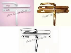 Lever-Lever-Upvc-Door-Handle-fits-68PZ-Fullex-Lock-White-Gold-or-Chrome