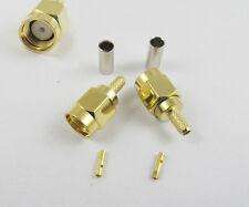 1pcs Rp Sma Male Plug Straight Crimp For Rg174 Rg179 Rg316 Rg188 Cable Connector