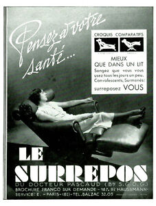 The old advertising chair surrepos 1937 or 1938 issue magazine