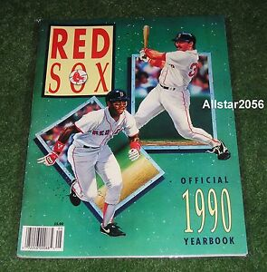 1990 BOSTON RED SOX OFFICIALYEARBOOK~ELLIS BURKS~MIKE GREENWELL ON THE COVER