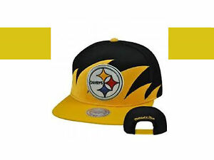 6f0dc903 Details about PITTSBURGH STEELERS RETRO CLASSIC MITCHELL & NESS SHARKTOOTH  SNAPBACK HAT