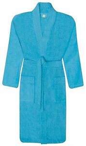 16b3d8da40 Image is loading Kids-Childrens-100-Cotton-Bath-Robe-Terry-Towelling-