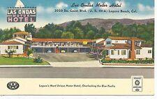 Laguna Beach CA Las Ondas Motor Hotel Postcard 1940s