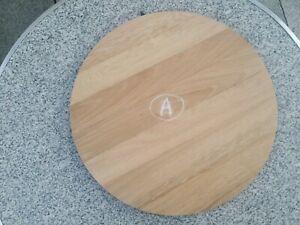 Plateau rond en vieux chêne assise tabouret dessus table Diamètre 34 cm A